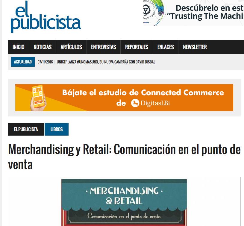 Reseña del libro Merchandising & Retail en El publicista