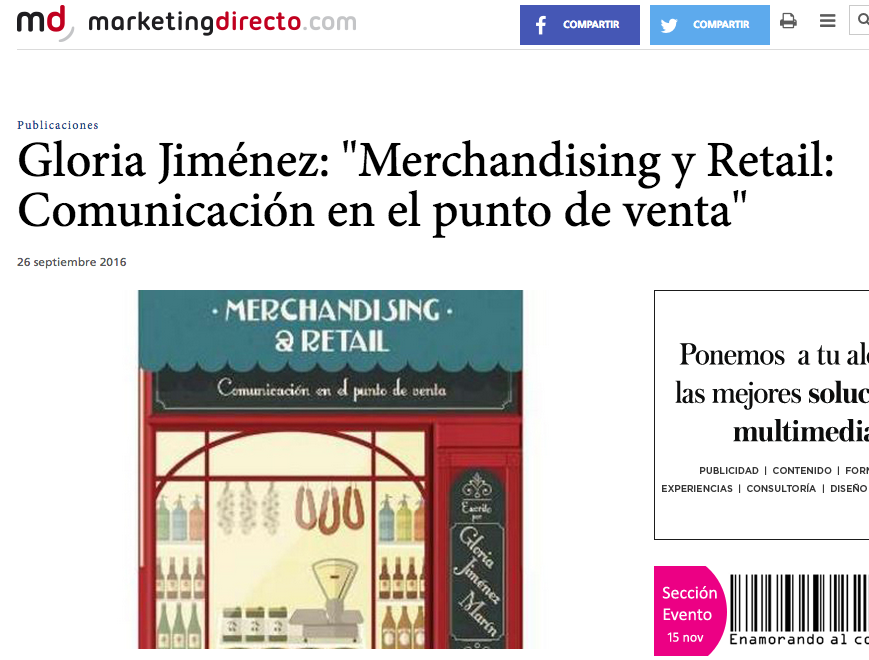 Reseña del libro Merchandising & Retail en MarketingDirecto
