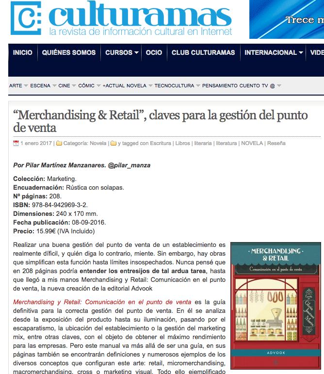 Reseña del libro Merchandising & Retail en Culturamas
