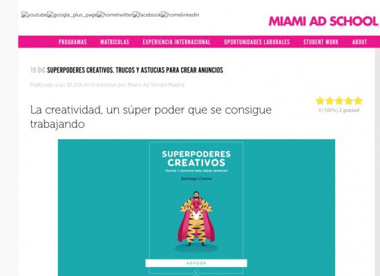 Miami Ad School entrevista a Santiago Cosme
