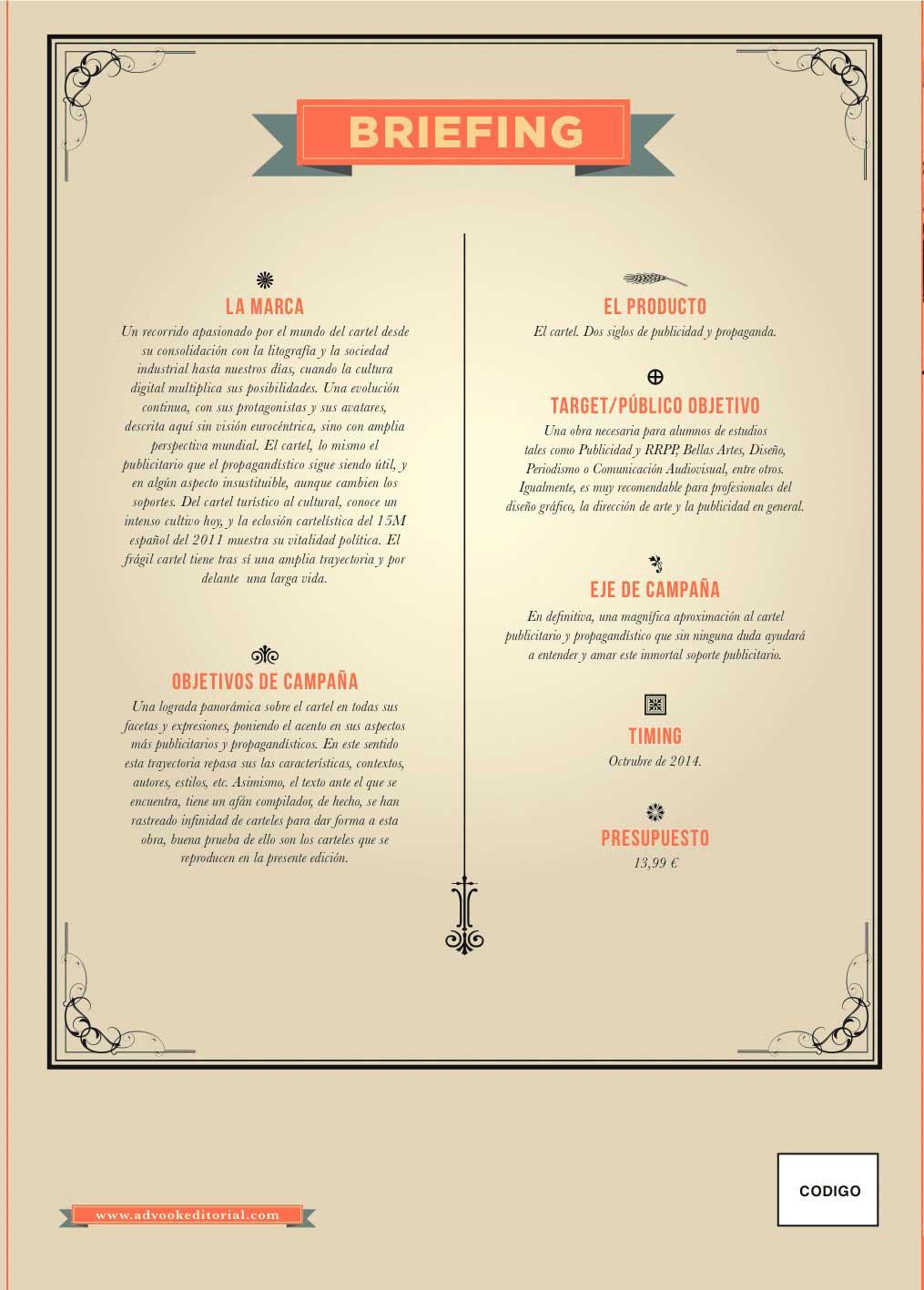 Contraportada del libro El cartel. Dos siglos de publicidad y propaganda