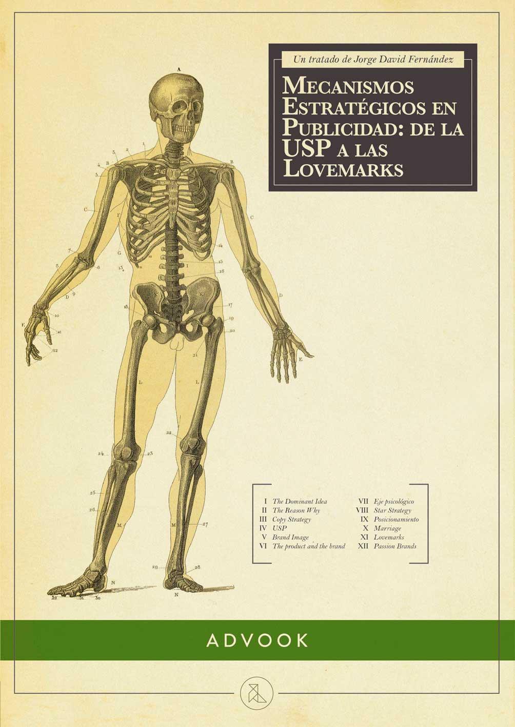 Portada del libro Mecanismos estratégicos en publicidad. De la USP a las Lovemarks de Jorge David Fernández Gómez
