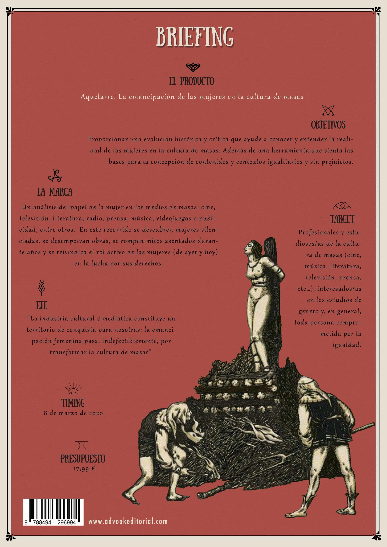 Contraportada AQUELARRE. La emancipación de las mujeres en la cultura de masas